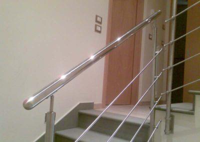 Parapetto per scala appartamento